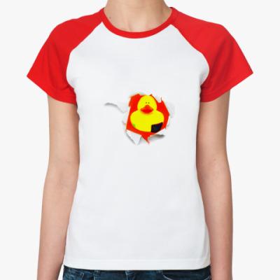 Женская футболка реглан Уточка