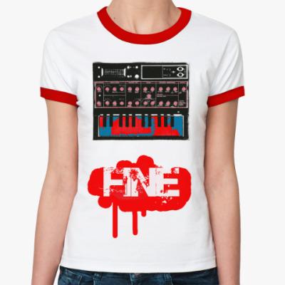 Женская футболка Ringer-T  FINE