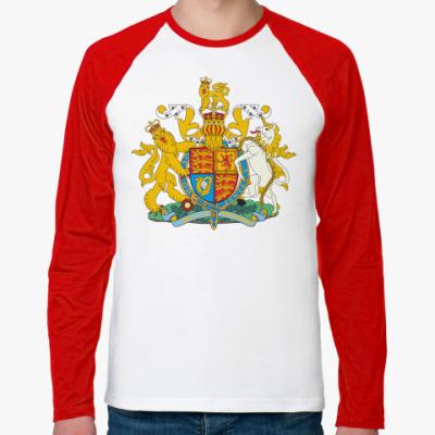 Футболка реглан с длинным рукавом Герб Великобритании