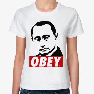 Классическая футболка Путин (Стиль Obey)
