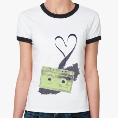 Женская футболка Ringer-T Tape