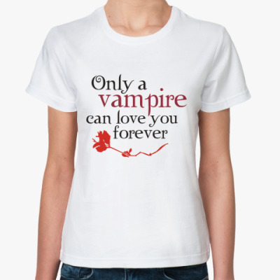Классическая футболка Vampire love