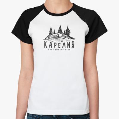 Женская футболка реглан Карелия