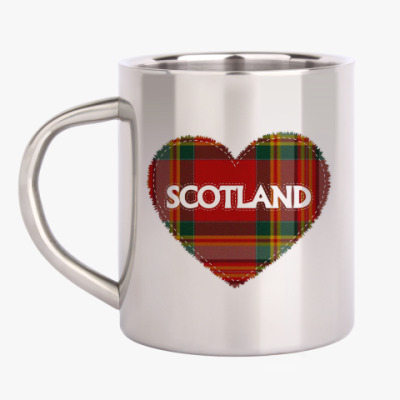 Кружка металлическая Love Scotland