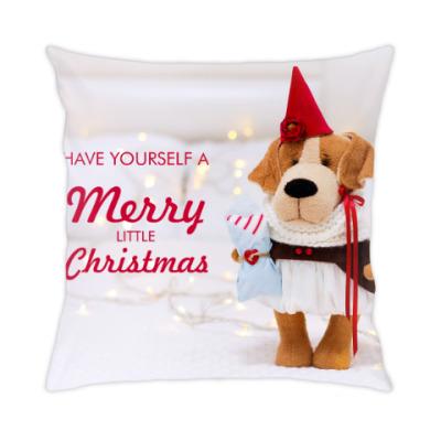 Подушка Новогодняя собачка
