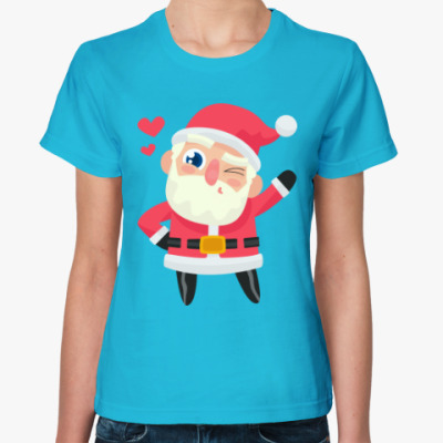Женская футболка Санта