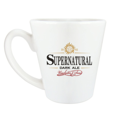 Чашка Латте Supernatural - Темный эль