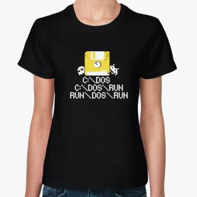 Женская футболка DOS