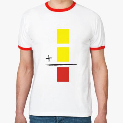 Футболка Ringer-T  Красная карточка