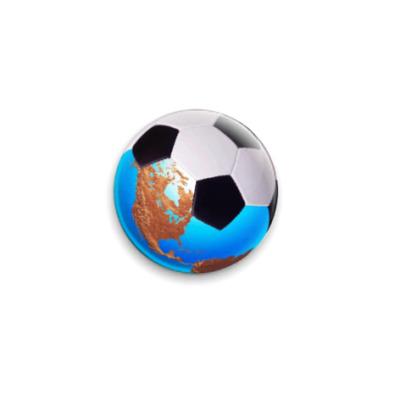 Значок 25мм  Мяч-Земля