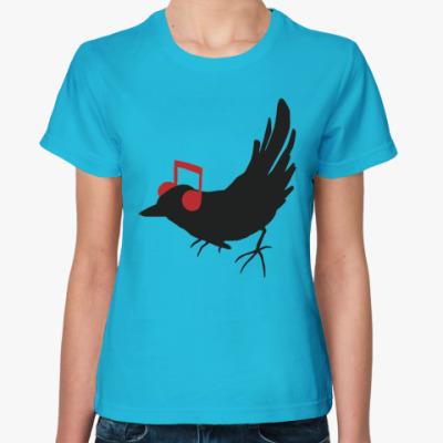 Женская футболка  'bird'