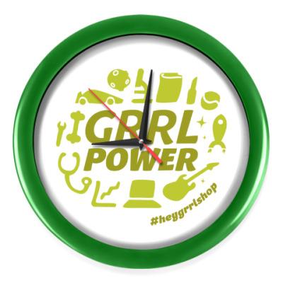 Настенные часы Grrl Power часы