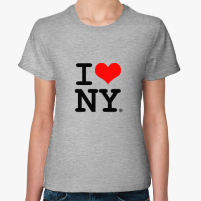 Женская футболка I Love NY