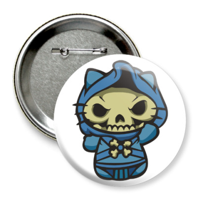 Значок 75мм Kitty Скелетор