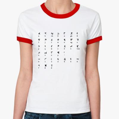 Женская футболка Ringer-T   'Алфавит'
