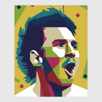 Постер Color Messi