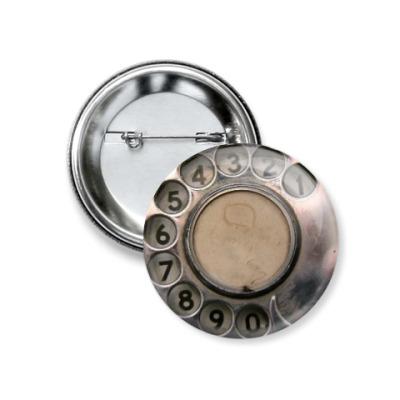 Значок 37мм  dial phone