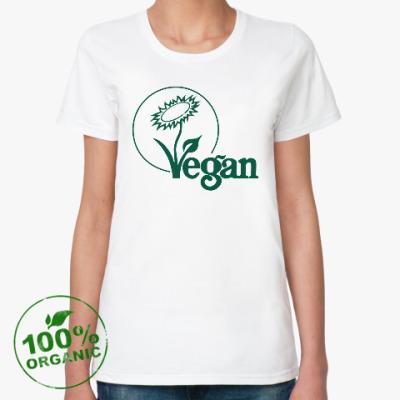Женская футболка из органик-хлопка Vegan