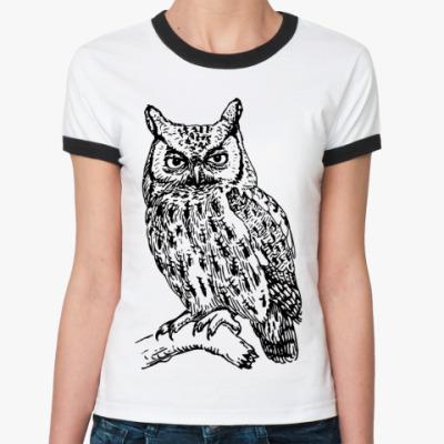 Женская футболка Ringer-T OWL