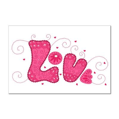 Наклейка (стикер) Pink Love