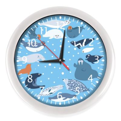 Настенные часы Время тюленить
