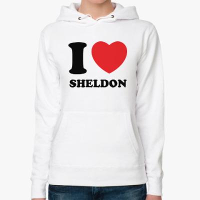 Женская толстовка худи I Love Sheldon