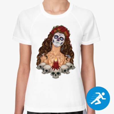 Женская спортивная футболка День Мёртвых