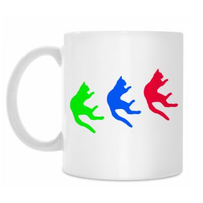 Кружка Падающие коты
