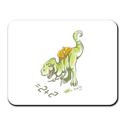 Коврик для мыши T-rex goes to school