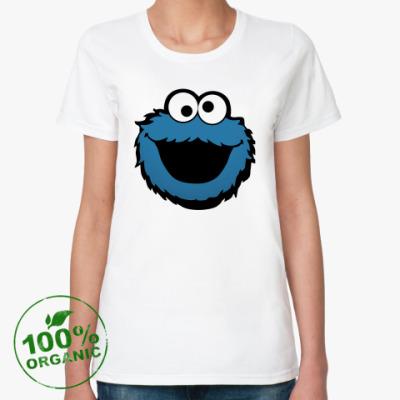 Женская футболка из органик-хлопка Бисквитный монстр
