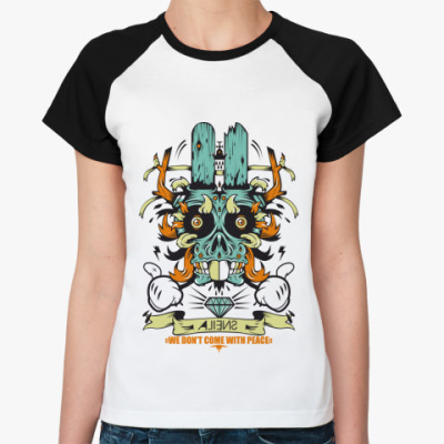 Женская футболка реглан   Aliens