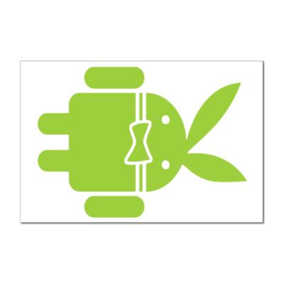 Наклейка (стикер) Андроид плейбой