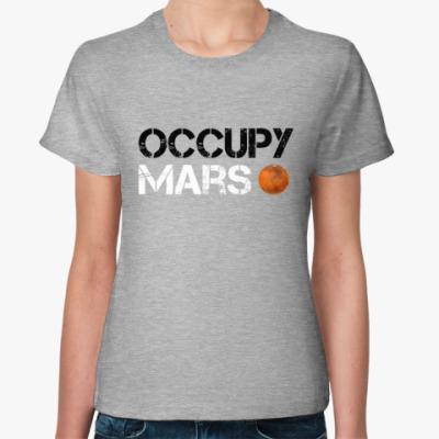 Женская футболка Occupy Mars