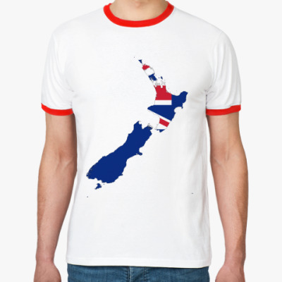 Футболка Ringer-T Новая Зеландия