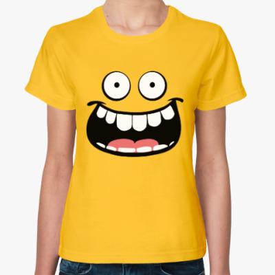 Женская футболка happy face