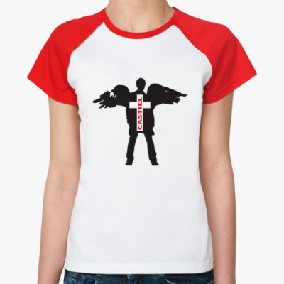 Женская футболка реглан Здесь был Кас - Supernatural