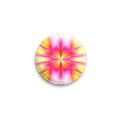 Значок 25мм  'Цветы из огня'