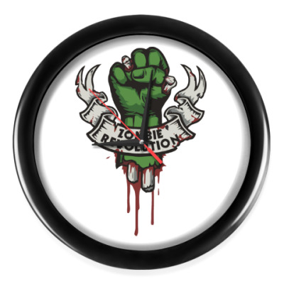 Настенные часы Революция Зомби