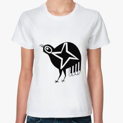 Классическая футболка  'Звездная курочка'