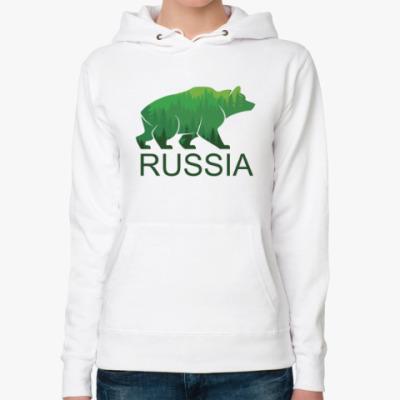 Женская толстовка худи Россия, Russia