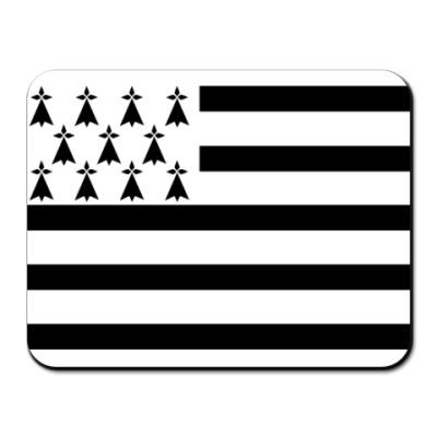 Коврик для мыши Флаг Бретани