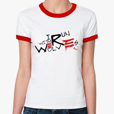 Женская футболка Ringer-T Werewolf  ж(б/к)