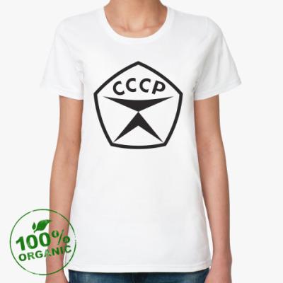 Женская футболка из органик-хлопка  СССР