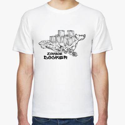 Футболка Docker zombie