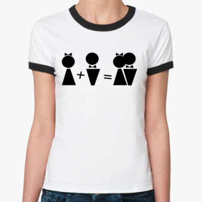 Женская футболка Ringer-T М+Ж