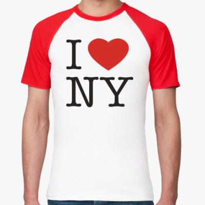 Футболка реглан   new york