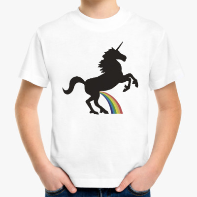 Детская футболка Радужный единорог