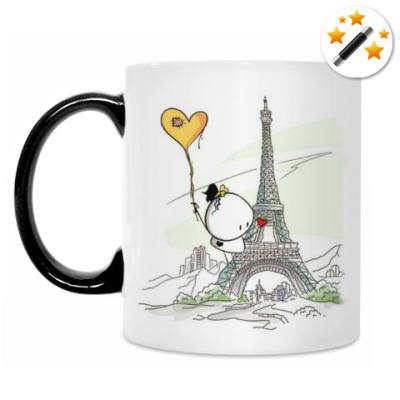 Кружка-хамелеон Париж