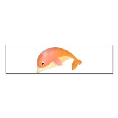 Наклейка (стикер)   Дельфин
