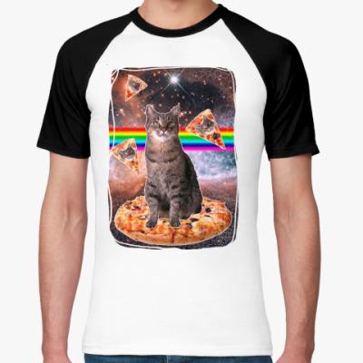 Футболка реглан Космический кот